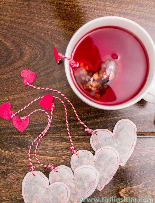 kalp şekilli çay poşetleri