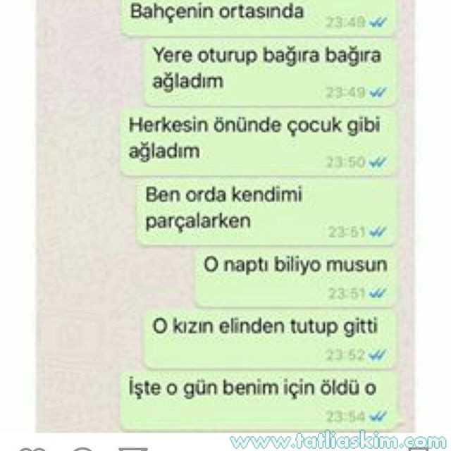 eski sevgili whatsapp