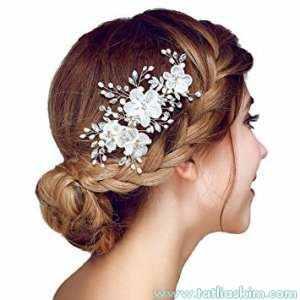 Nikah için saç aksesuarları