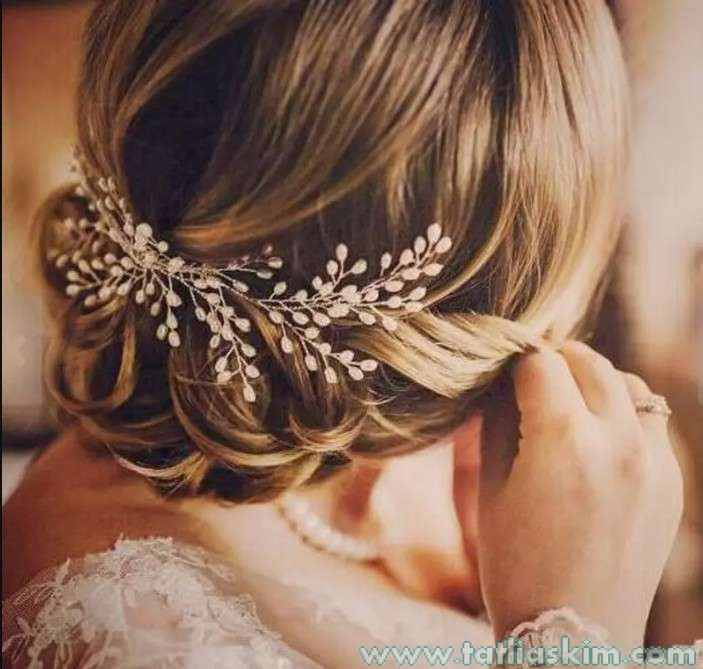 düğün ve nikah için saç aksesuarları
