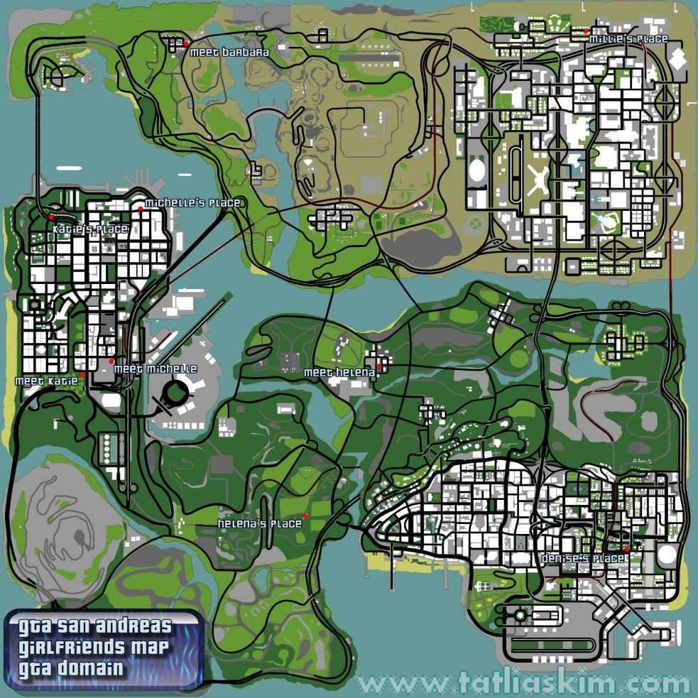 gta san andreas sevgili haritası