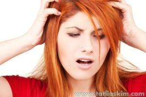 saç derisinde kuruluk ve kaşıntı