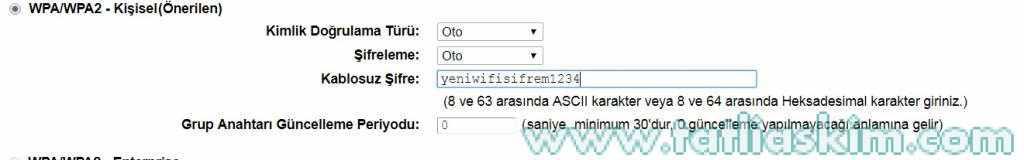 tp-link td-w9970 kablosuz şifre değiştirme